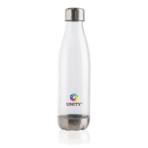 Trinkflasche Stainless-Steel-Deckel weiß