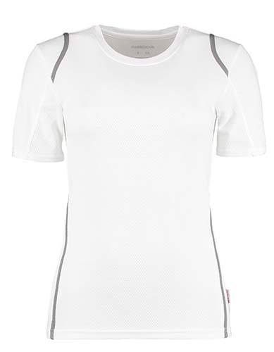 Women`s Regular Fit T-Shirt Short Sleeve_White_Grey