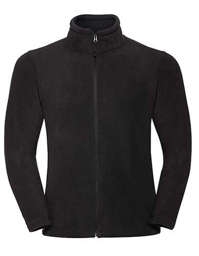 Men`s Full Zip Outdoor Fleece_Black