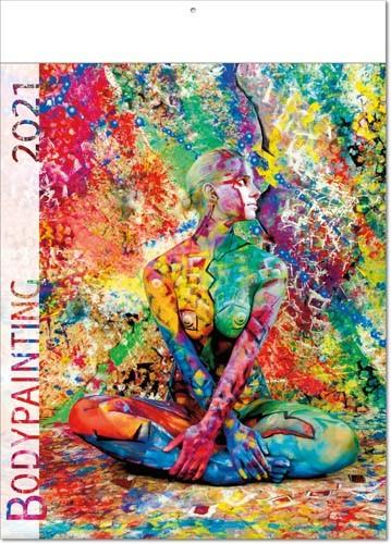 Bildkalender deutsch BODYPAITING mit Klappfälzel