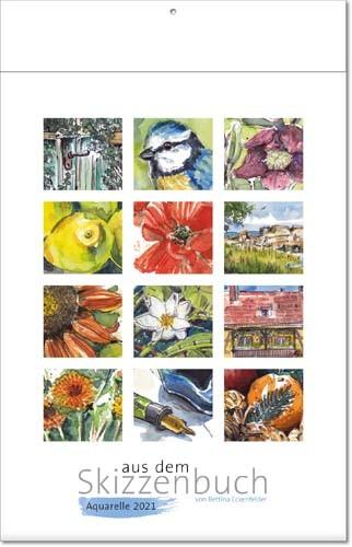 Bildkalender deutsch AUS DEM SKIZZENBUCH mit Klappfälzel