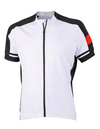 JN454 Men`s Bike-T Full Zip_White