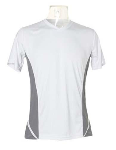 K969 Herren Sport Shirt-Kurzarm-V-Ausschnitt