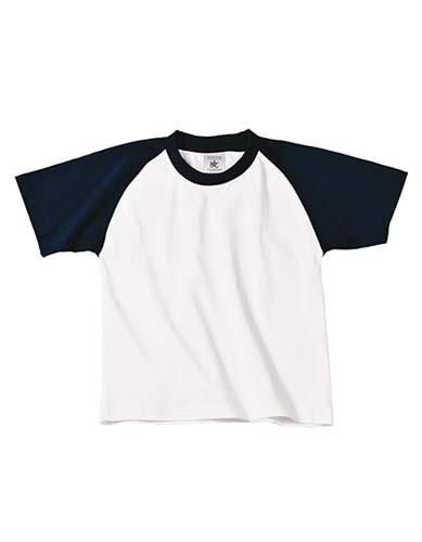T-Shirt Base-Ball / Kids_White_Navy
