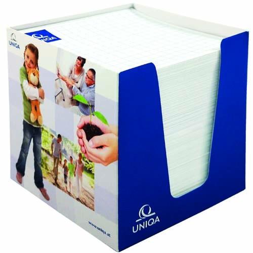 Zettelspeicher Karton mit Display 100 x 100 x 50 mm
