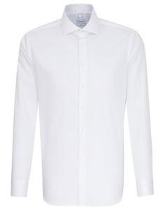 Herrenhemd Slim Fit Twill Langarm White
