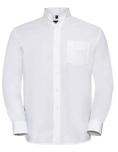 Men`s Long Sleeve Classic Oxford Shirt_White