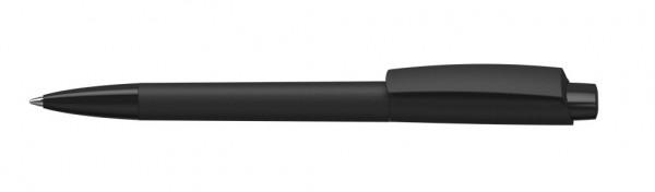 Kugelschreiber Zeno high gloss softtouch schwarz/schwarz