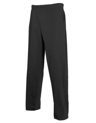 Lightweight Open Hem Jog Pants_Black