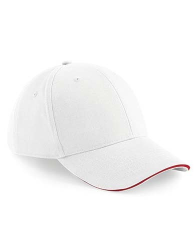 Athleisure 6 Panel Cap_White_Classic-Red