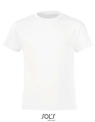 Kids` Round Collar T-Shirt Regent Fit_White