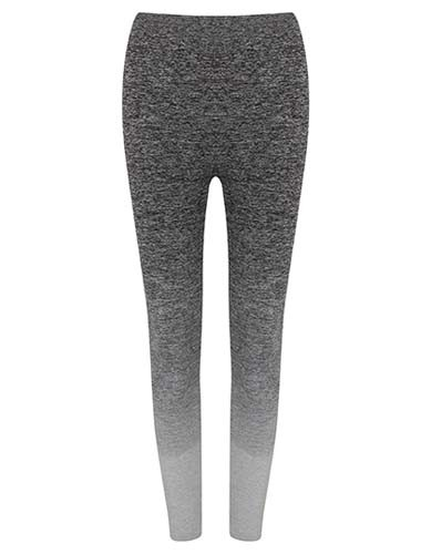 TL300 Ladies` Seamless Fade Out_Dark-Grey-Light-Grey-Marl