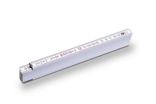 Stabila-1407/11 Zollstock Serie 400 weiß 3m