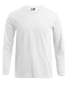 E4099 T-Shirt Mäanner Rundhals Langarm