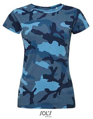 Women`s Camo T-Shirt Blue-Camo