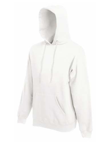 F421 Classic Hooded Sweat_White