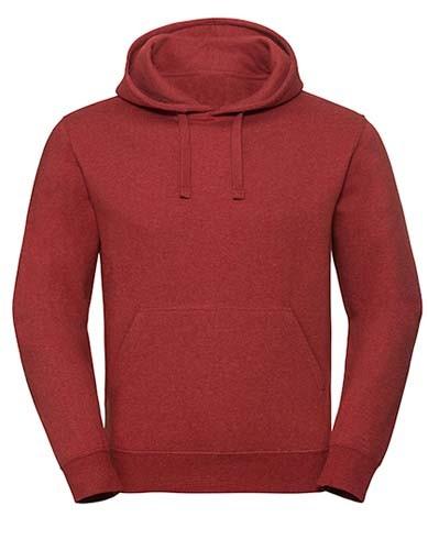 Men`s Authentic Melange Hooded Sweat_Brick-Red
