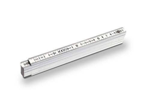 Stabila-1107 Zollstock Kunstoff Serie 1100 weiß 2m