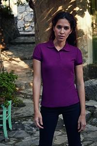 F517 Polo Shirt Damen Maßgeschneidert Kurzarm