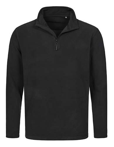 Active Fleece Half Zip_Black Opal