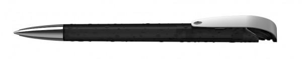 Kugelschreiber Jona structure Mmn schwarz transparent