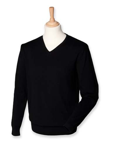 Men`s Lightweight V-Neck Jumper_Black