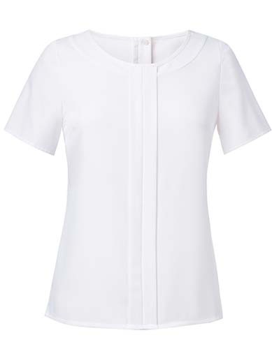 BR801 Women`s Felina Short Sleeve Blouse_White