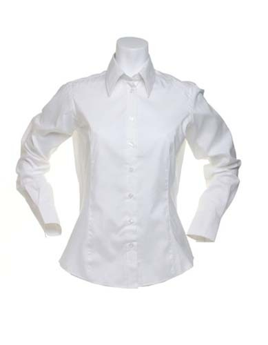 Women`s Tailored Fit Shirt Long Sleeve_White