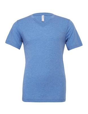 Triblend V-Neck T-Shirt Blue-Triblend