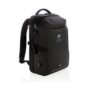 USB Laptop-Rucksack, schwarz
