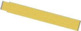 Sta-717 Zollstock Serie 700 weiß/gelb 2m