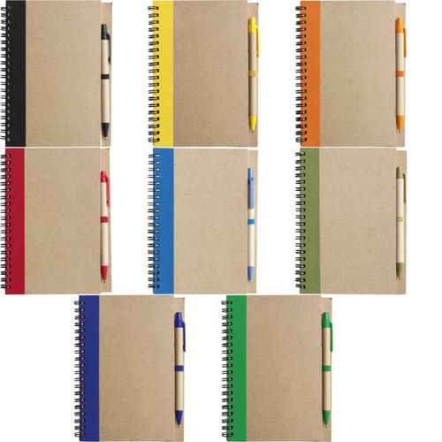 """2715 Notizbuch """"Freak"""" aus recyceltem Papier mit Karton-Kugelschreiber"""