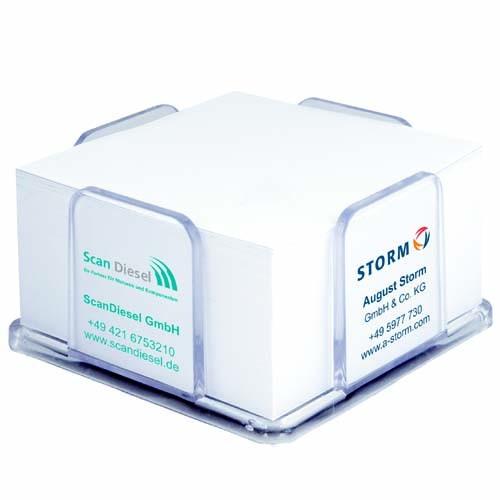 Zettelspeicher Kunststoff 104 x 104 x 58 mm