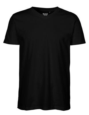 Men`s V-neck T-Shirt Black