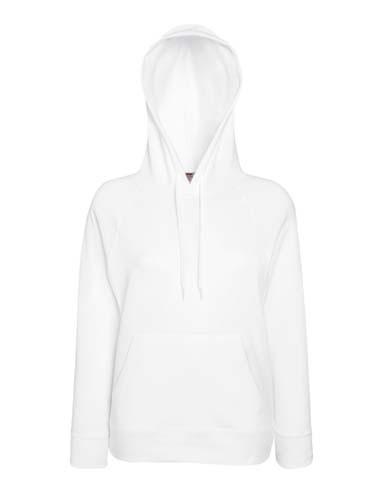F435 Ladies Hooded Sweat_White