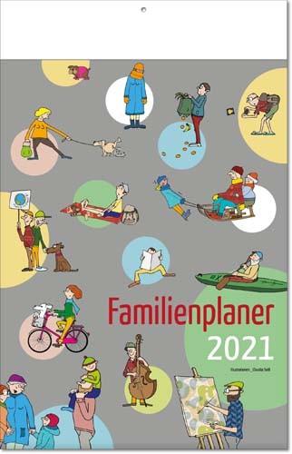 Bildkalender deutsch FAMILIENPLANER mit Klappfälzel