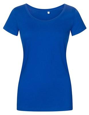 Women´s Deep Scoop T-Shirt Azur-Blue