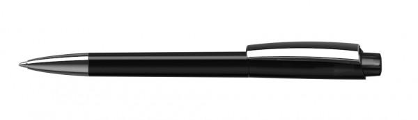 Kugelschreiber Zeno Mmn schwarz transparent