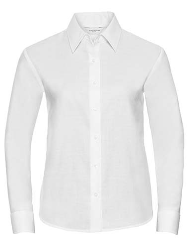 Ladies` Long Sleeve Classic Oxford Shirt_White