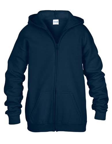 Youth Full Zip Hooded Sweatshirt_Navy