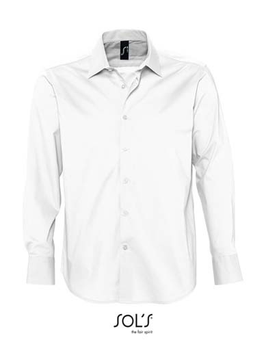 Men`s Stretch-Shirt Brighton Longsleeve_White