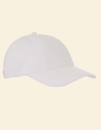 Baumwollcap low profile/brushed_White