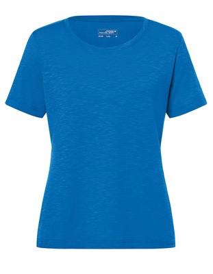 Ladies`Slub T-Shirt Bright-Blue