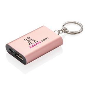 1.000 mAh Schlüsselanhänger Powerbank rosa