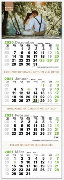 GREEN 4 | flatbarer 4-Monats-Kalender | deutsch-mehrsprachig