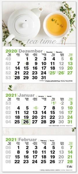 GREEN 3 | flatbarer 3-Monats-Kalender