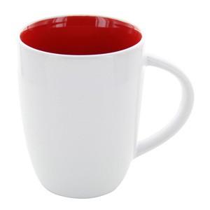 Tasse Elektra weiß-rot