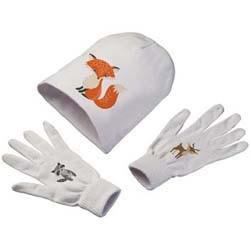 Set aus Handschuhen und Mütze