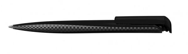 Kugelschreiber Tailor diamond schwarz transparent
