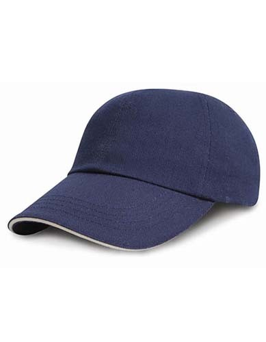 Junior Heavy Brushed Cotton Cap_Navy-White